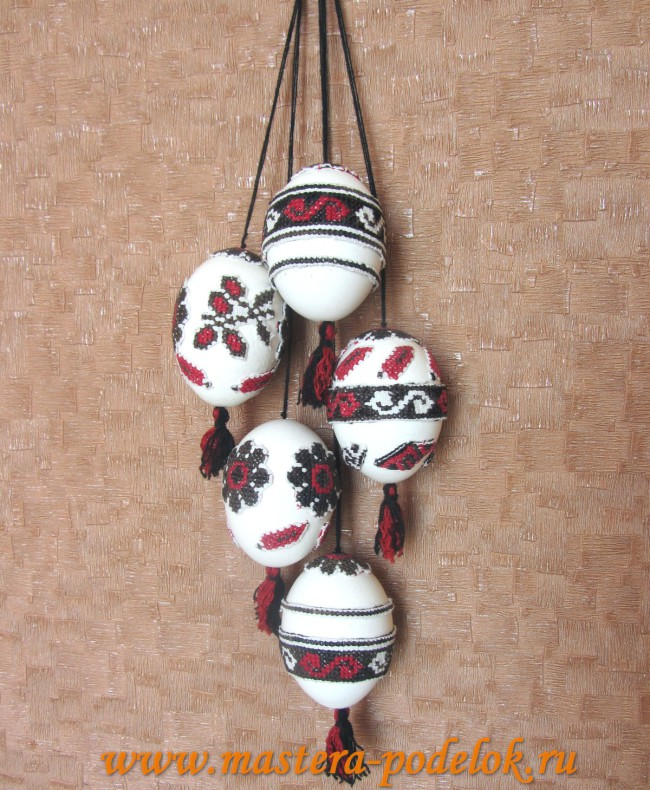 Декоративные пасхальные яйца своими руками