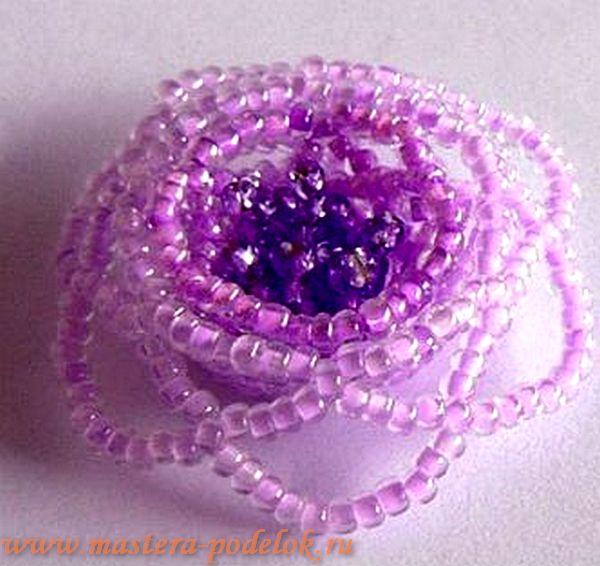 Плетение розы из бисера для начинающих