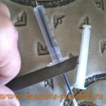 Ручка из шприца своими руками