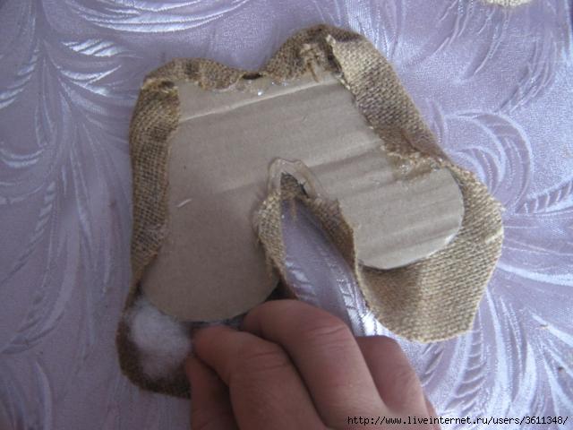 Сделать домовенка из мешковины своими руками